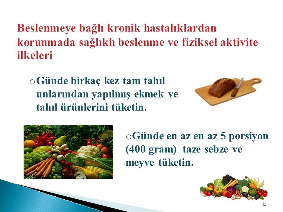 Beslenmeye bağlı kronik hastalıklardan korunmada sağlıklı beslenme ve fiziksel aktivite ilkeleri