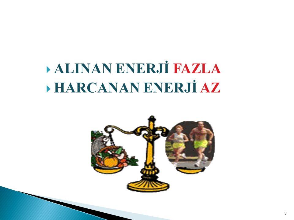 ALINAN ENERJİ FAZLA HARCANAN ENERJİ AZ