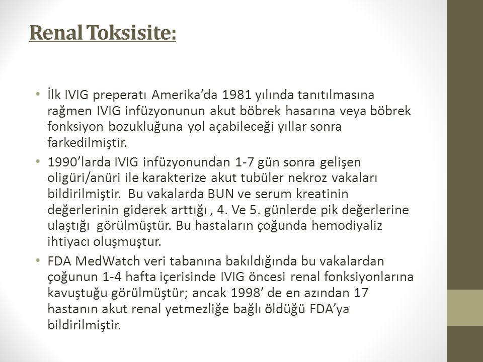 Renal Toksisite: