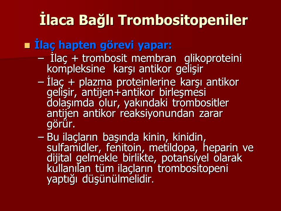 İlaca Bağlı Trombositopeniler