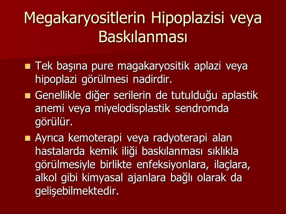 Megakaryositlerin Hipoplazisi veya Baskılanması