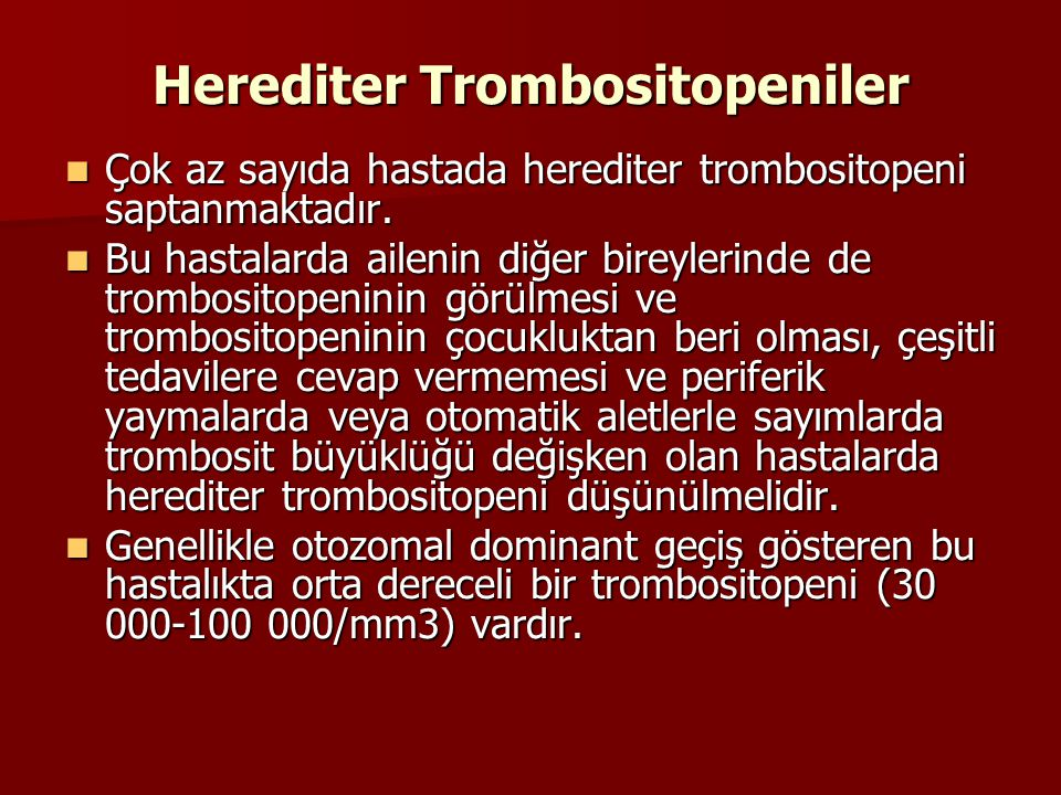 Herediter Trombositopeniler