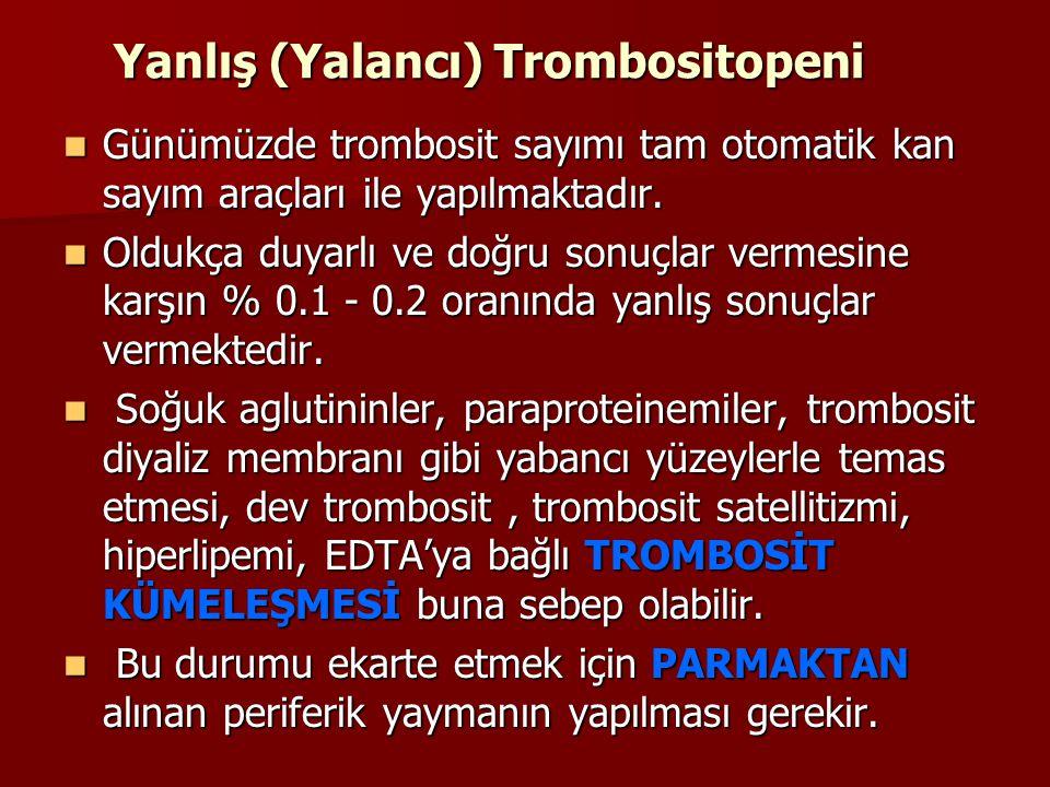 Yanlış (Yalancı) Trombositopeni