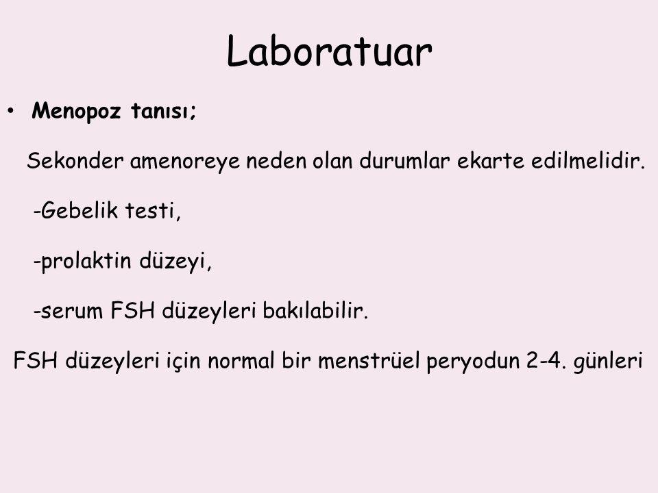Laboratuar Menopoz tanısı;