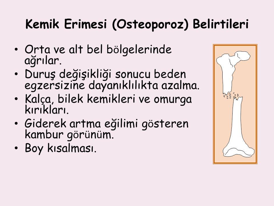 Kemik Erimesi (Osteoporoz) Belirtileri