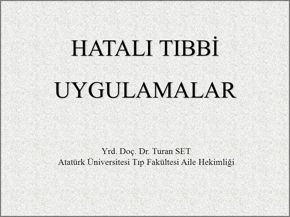 Atatürk Üniversitesi Tıp Fakültesi Aile Hekimliği