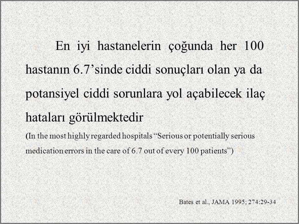En iyi hastanelerin çoğunda her 100 hastanın 6