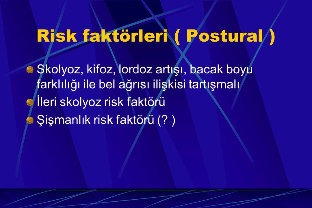 Risk faktörleri ( Postural )