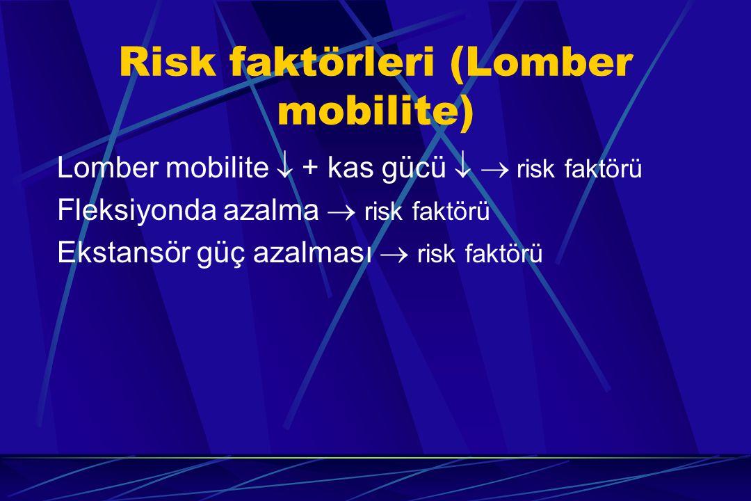 Risk faktörleri (Lomber mobilite)