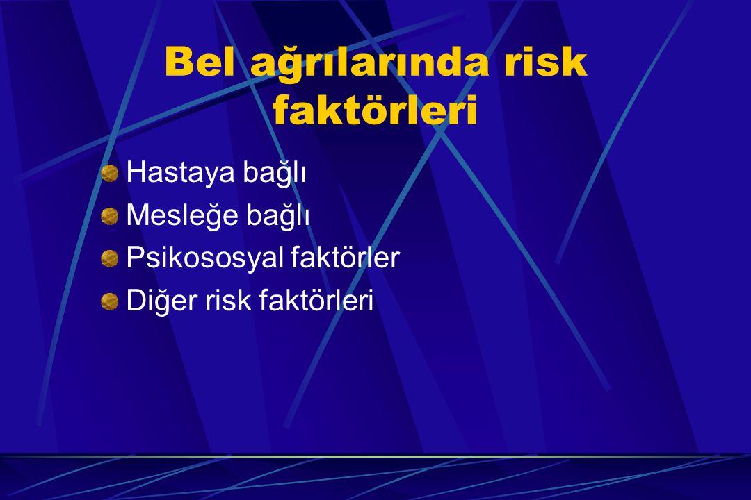 Bel ağrılarında risk faktörleri