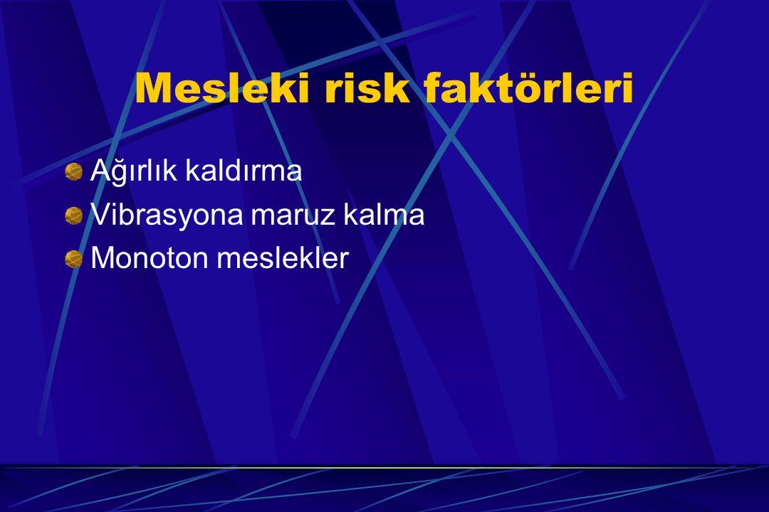 Mesleki risk faktörleri