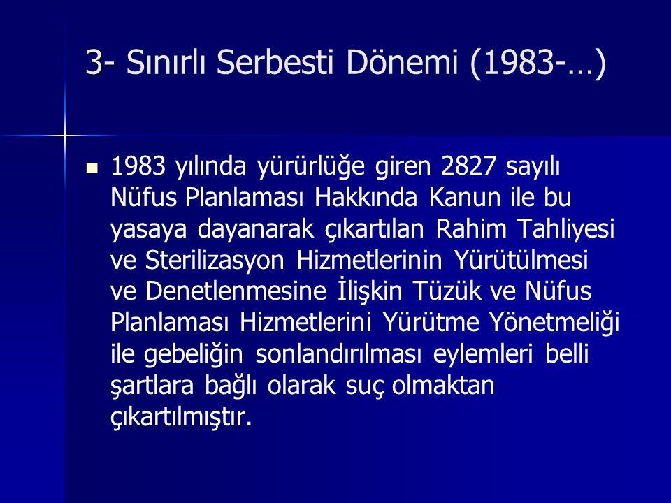 3- Sınırlı Serbesti Dönemi (1983-…)