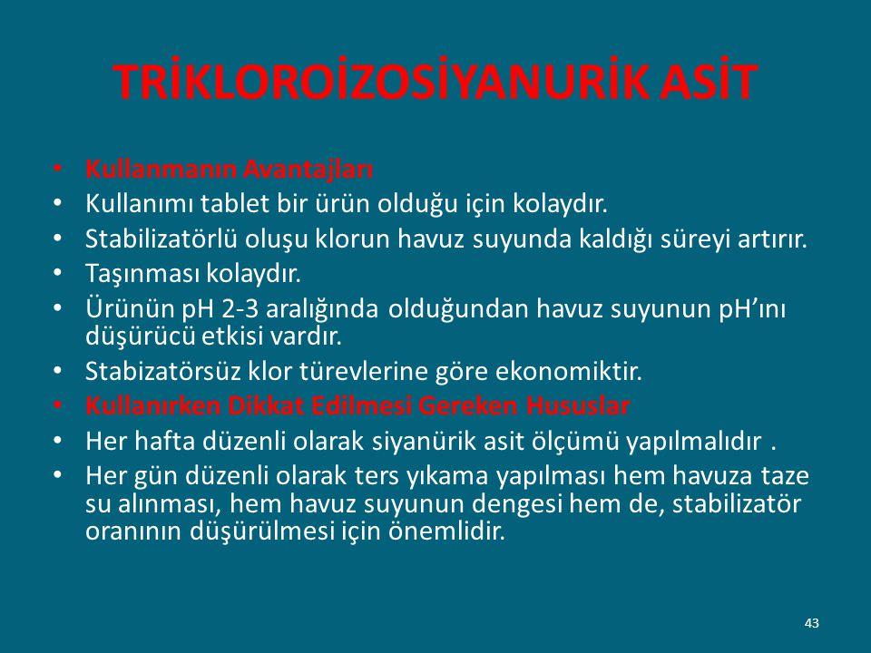TRİKLOROİZOSİYANURİK ASİT