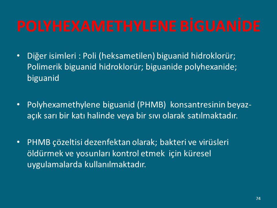 POLYHEXAMETHYLENE BİGUANİDE