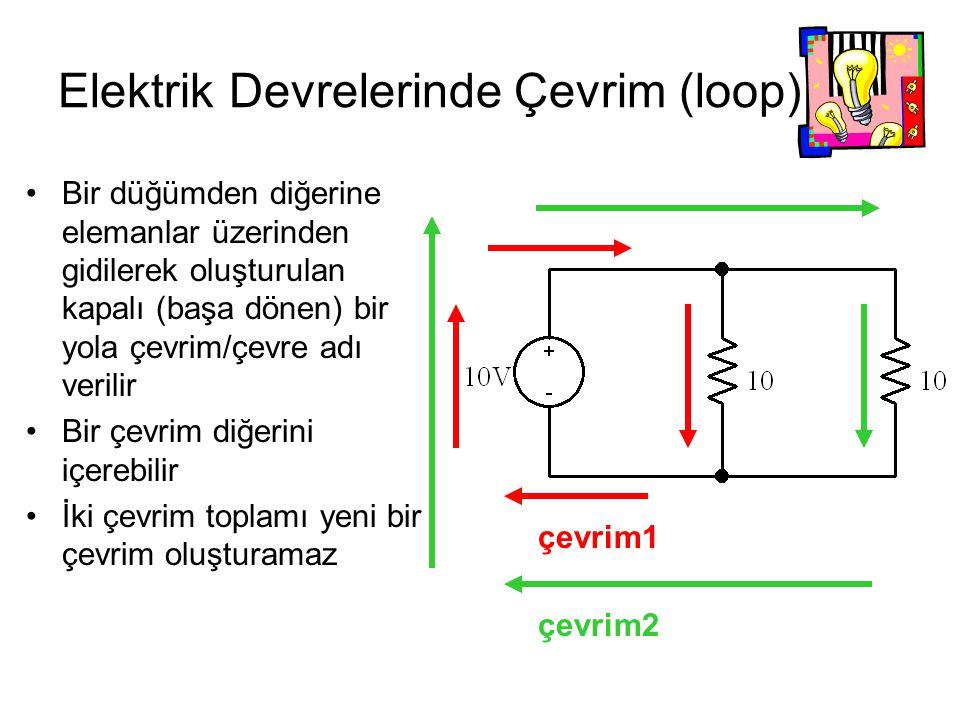 Elektrik Devrelerinde Çevrim (loop)