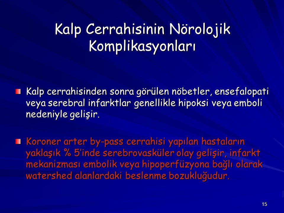 Kalp Cerrahisinin Nörolojik Komplikasyonları