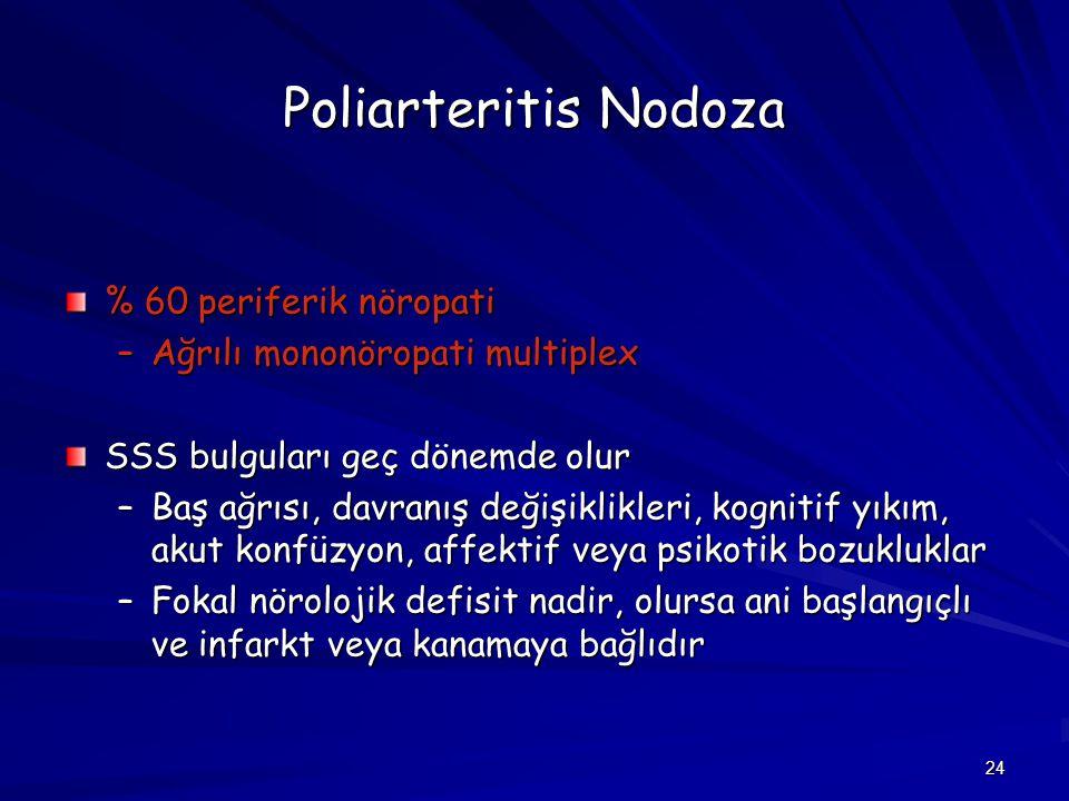 Poliarteritis Nodoza % 60 periferik nöropati