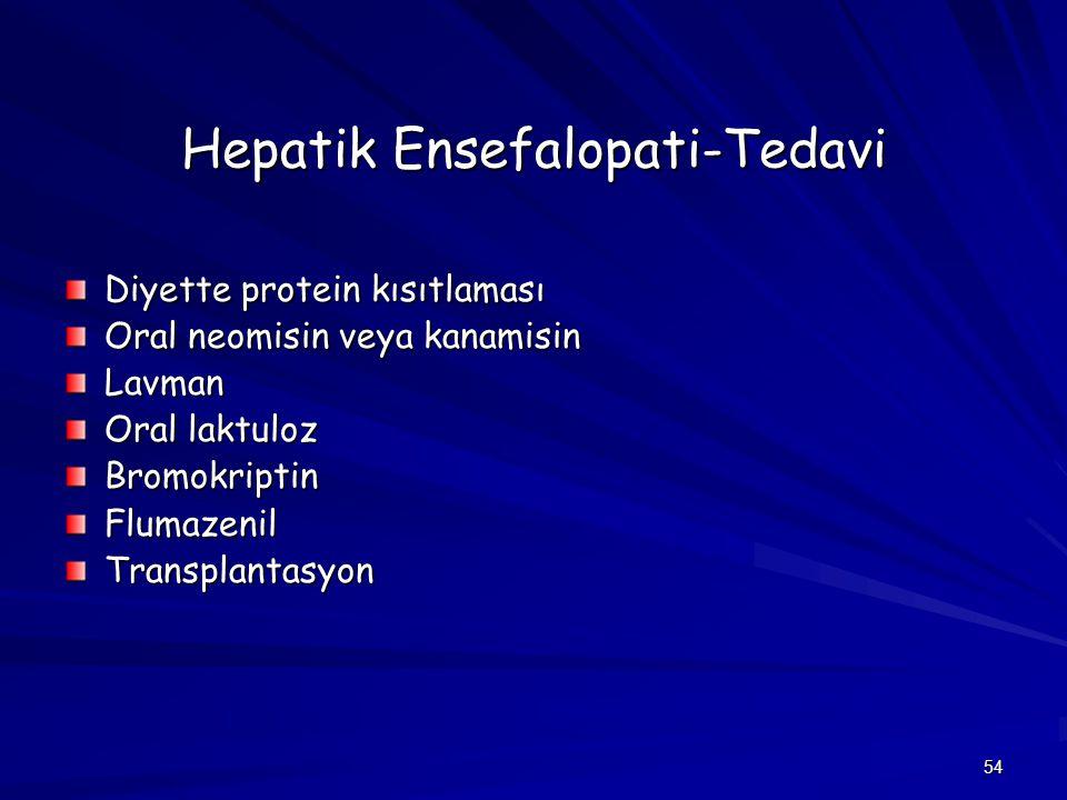 Hepatik Ensefalopati-Tedavi