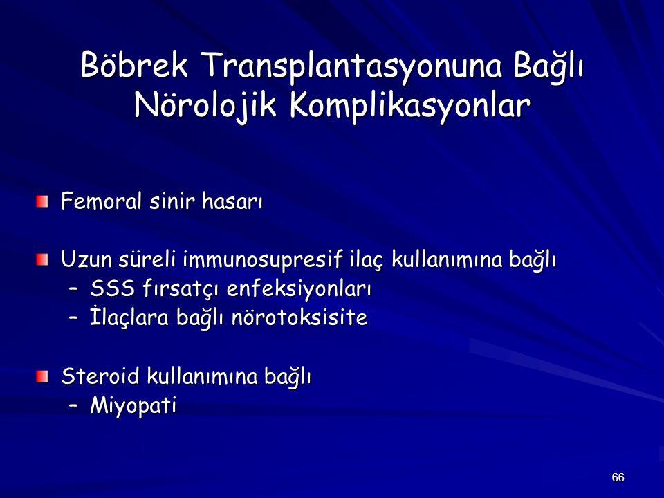 Böbrek Transplantasyonuna Bağlı Nörolojik Komplikasyonlar