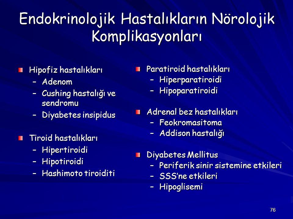Endokrinolojik Hastalıkların Nörolojik Komplikasyonları