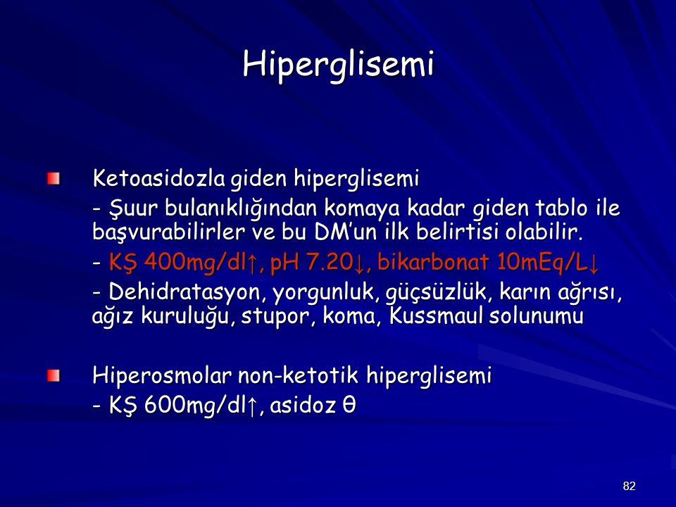 Hiperglisemi Ketoasidozla giden hiperglisemi