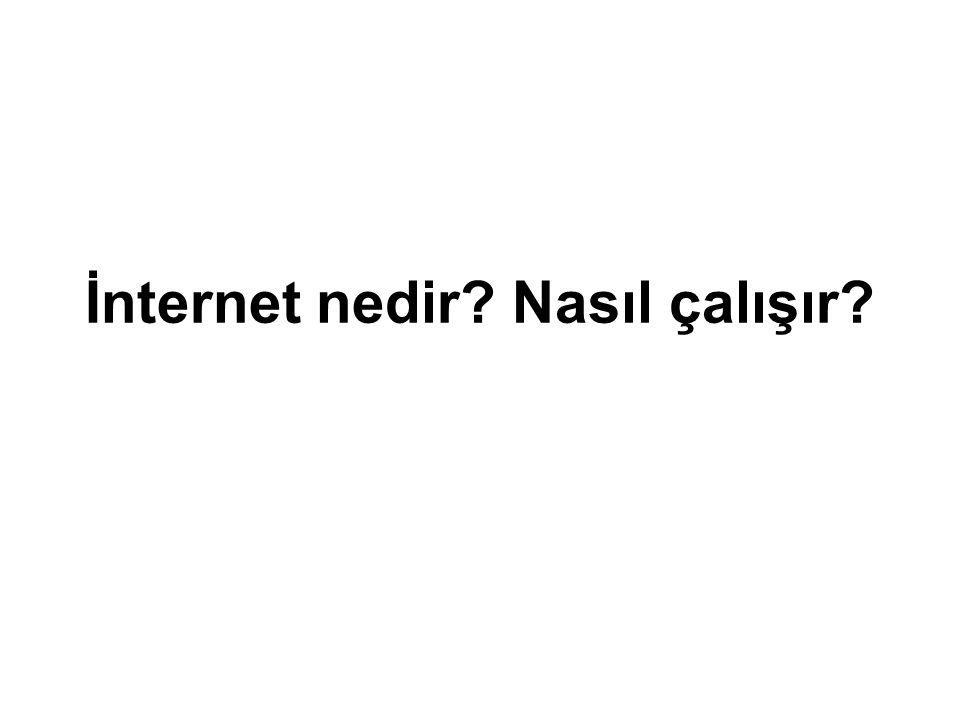 İnternet nedir Nasıl çalışır