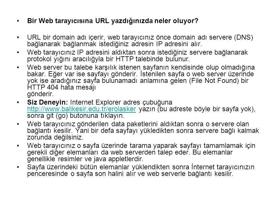 Bir Web tarayıcısına URL yazdığınızda neler oluyor