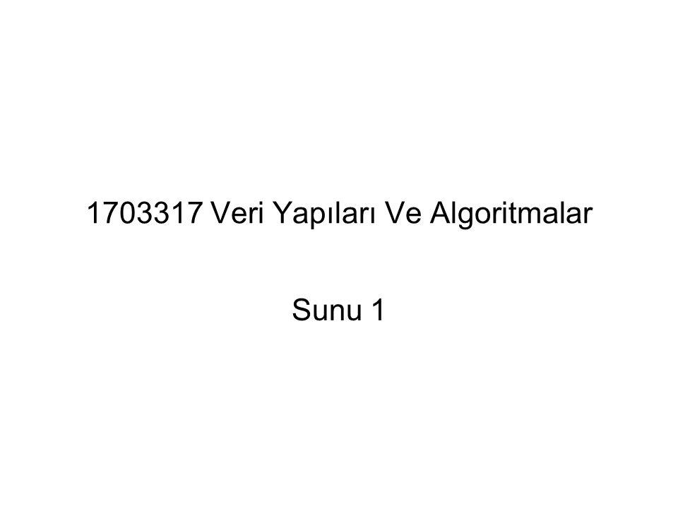 1703317 Veri Yapıları Ve Algoritmalar