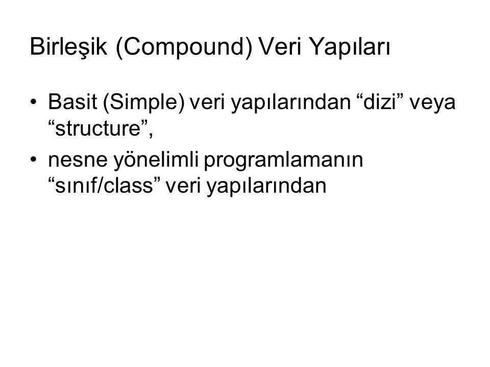Birleşik (Compound) Veri Yapıları