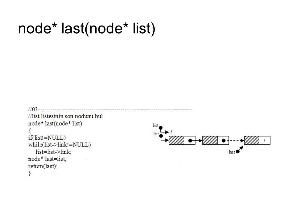 node* last(node* list)