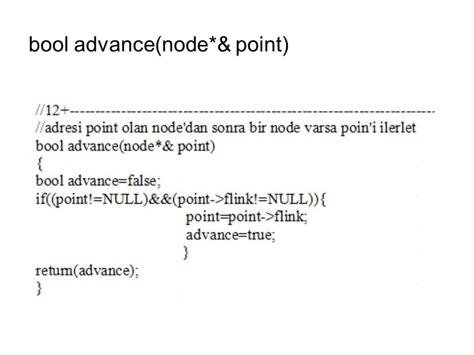 bool advance(node*& point)