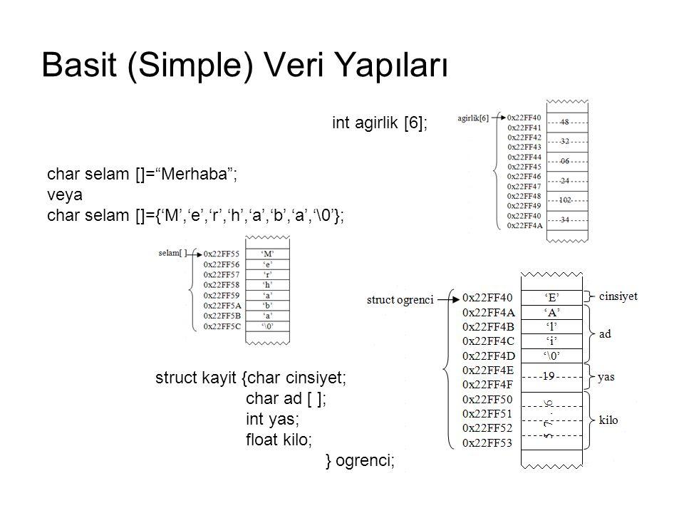 Basit (Simple) Veri Yapıları