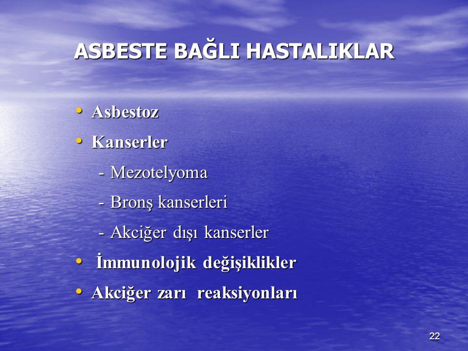 ASBESTE BAĞLI HASTALIKLAR