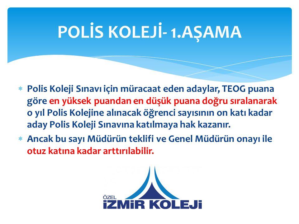 POLİS KOLEJİ- 1.AŞAMA