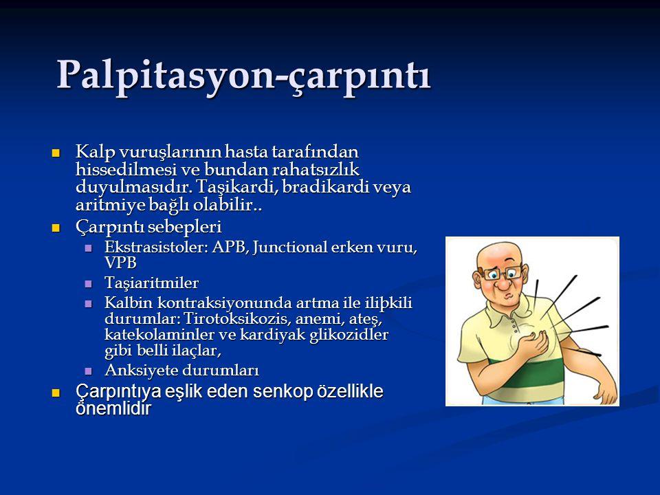 Palpitasyon-çarpıntı