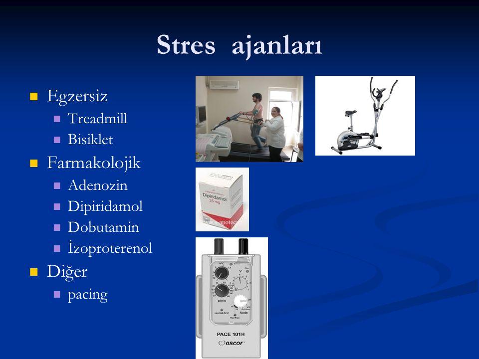 Stres ajanları Egzersiz Farmakolojik Diğer Treadmill Bisiklet Adenozin