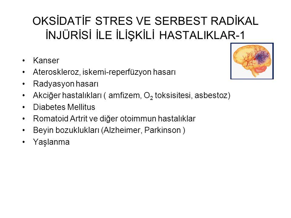 OKSİDATİF STRES VE SERBEST RADİKAL İNJÜRİSİ İLE İLİŞKİLİ HASTALIKLAR-1