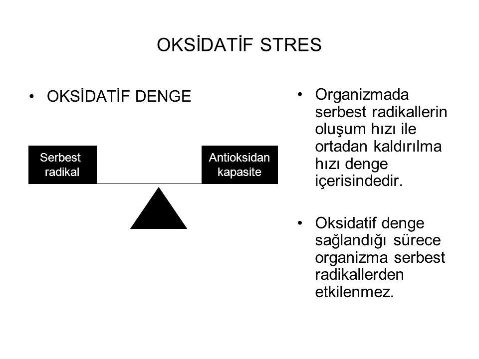OKSİDATİF STRES OKSİDATİF DENGE