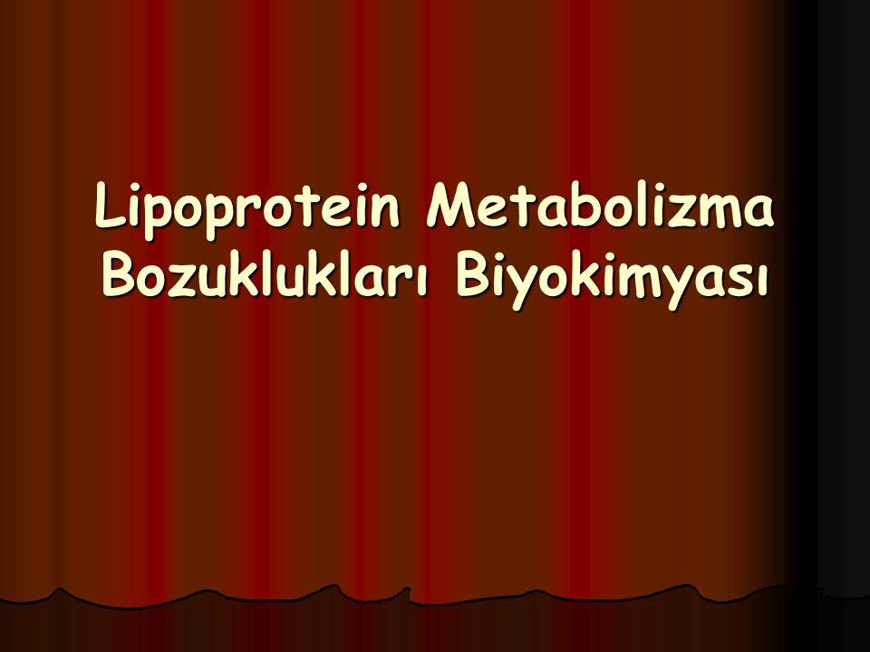Lipoprotein Metabolizma Bozuklukları Biyokimyası