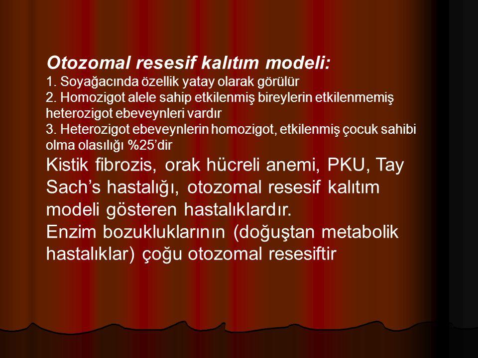 Otozomal resesif kalıtım modeli: