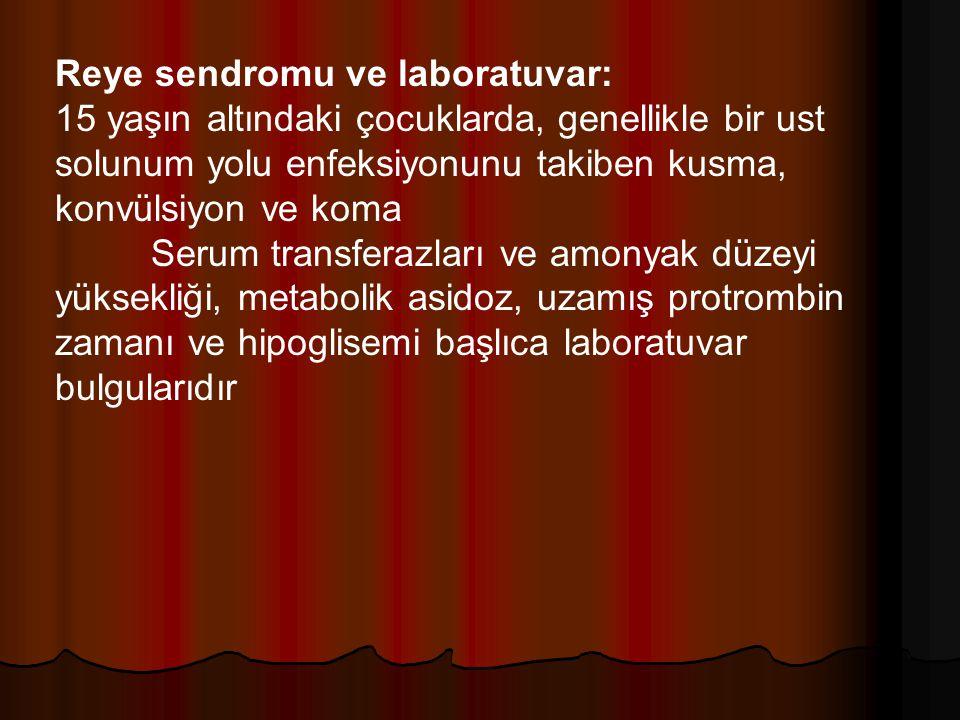 Reye sendromu ve laboratuvar: