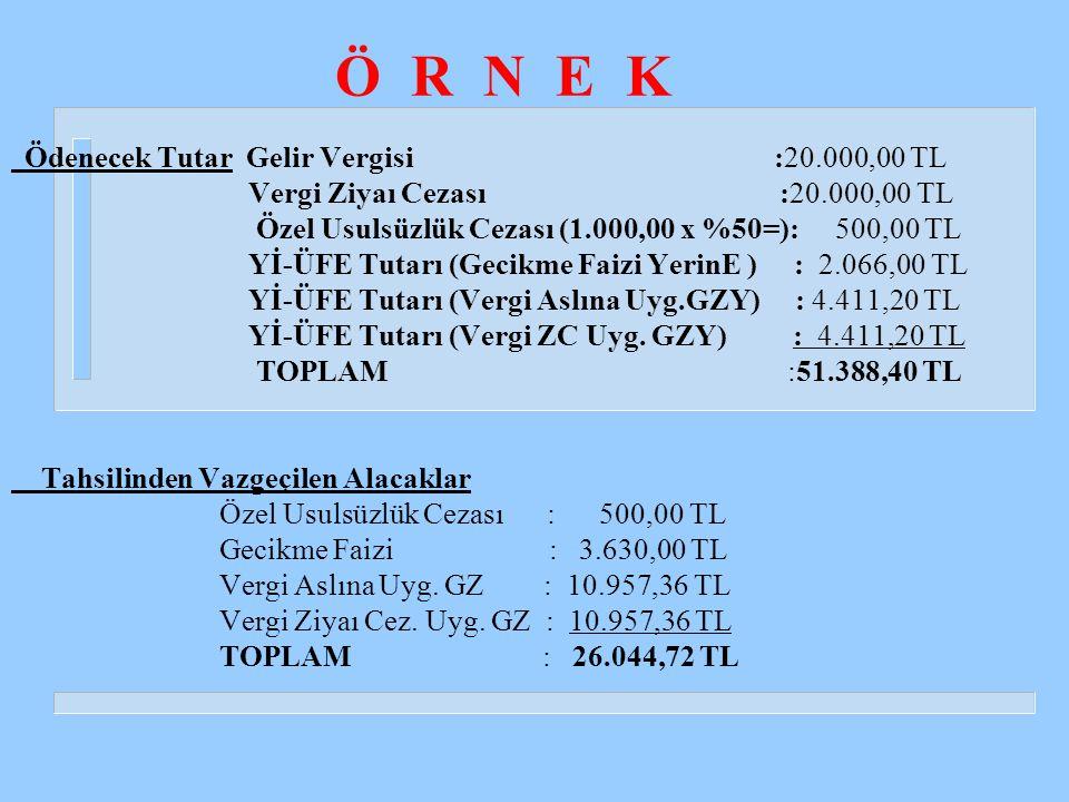 Ö R N E K Vergi Ziyaı Cezası :20.000,00 TL