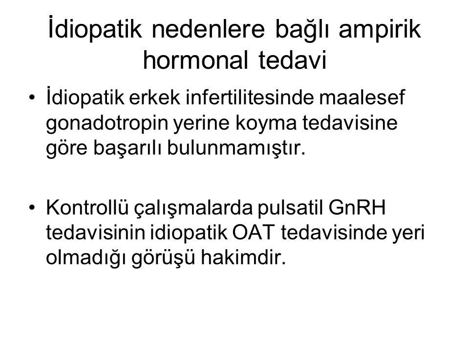 İdiopatik nedenlere bağlı ampirik hormonal tedavi