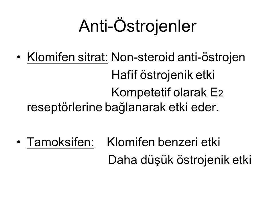 Anti-Östrojenler Klomifen sitrat: Non-steroid anti-östrojen