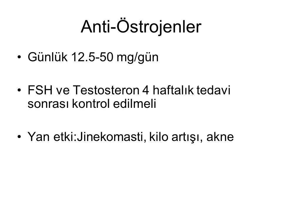 Anti-Östrojenler Günlük 12.5-50 mg/gün