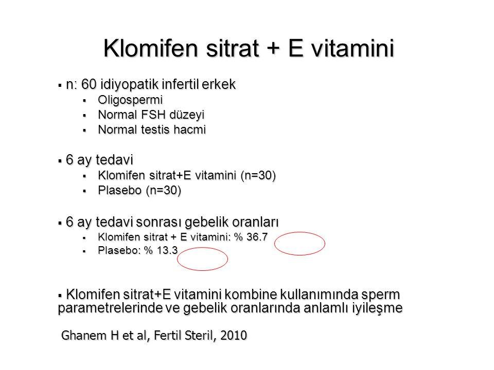 Klomifen sitrat + E vitamini