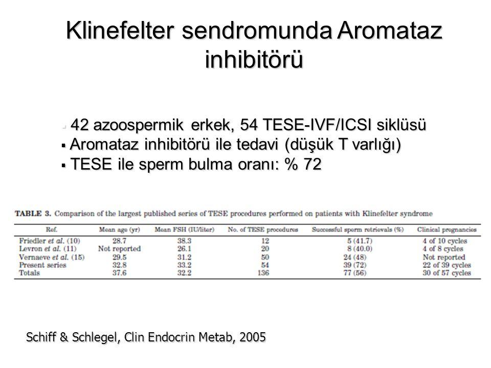Klinefelter sendromunda Aromataz inhibitörü