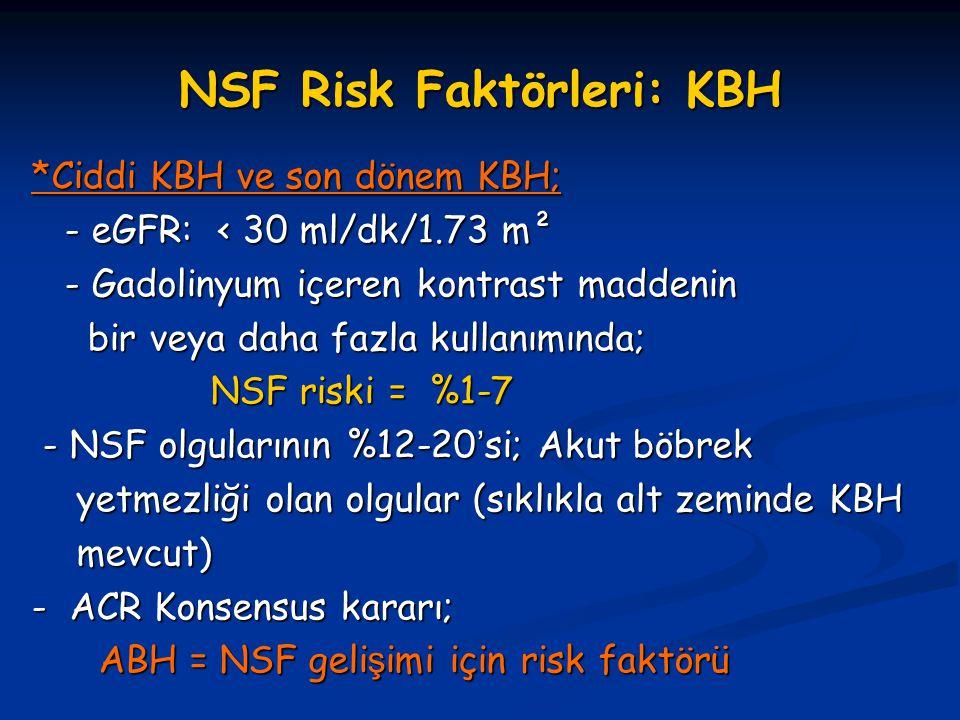 NSF Risk Faktörleri: KBH