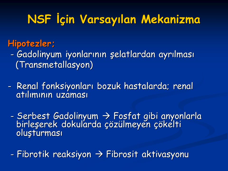 NSF İçin Varsayılan Mekanizma