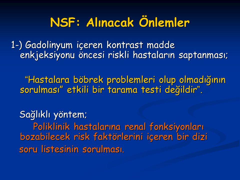 NSF: Alınacak Önlemler